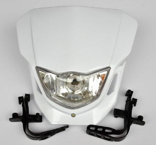 Preisvergleich Produktbild Weiß Dirt Bike Motorrad-Universal-Vision-Scheinwerfer Street Fighter Scheinwerfer CQR