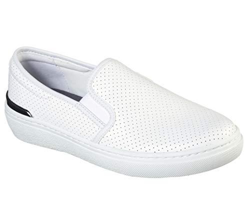 Concept 3 by Skechers Women's Feel The Vibe Slip-on Sneaker, White, 7.5 Medium US