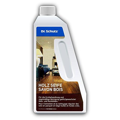 Dr. Schutz Holz Seife 750 ml | Reinigung und Pflege von Holzboden und Korkboden | für geölt & geölt-gewachste Holzfußböden und Korkfußböden | schonende Bodenpflege auf Seifenbasis | Made in Germany