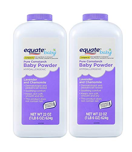 Pure Cornstarch Baby Powder with Lavender and Chamomile (2 Pack)