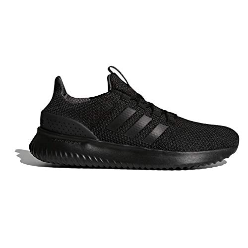 adidas Men's Cloudfoam Ultimate Running Shoe, Black/Black/Utility Black, 9.5 M US