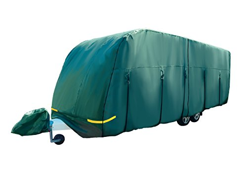Maypole 4-Ply Breathable Caravan Cover Green - Fits up to 14' With Free Hitch Cover - MP9531 - UPDATED VERSION