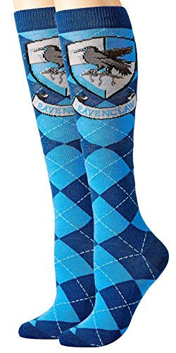 Harry Potter Ravenclaw Argyle Juniors Knee High Socks