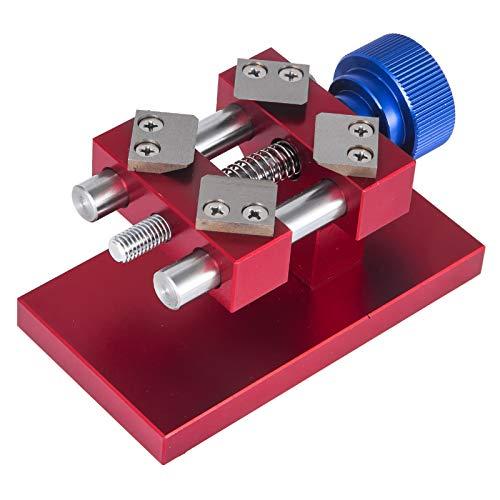 Mophorn Uhr Presse Reparatur Werkzeug Kit 19mm bis 52mm Uhr Press Tool aus Metall Uhr Zurück Presse Maschine Kit Uhrenschließer Gehäuseschließer Uhr Einpresswerkzeug mit 4 polierte und präzise Messer