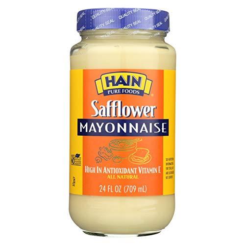 Hain Pure Foods Safflower Mayonnaise ( 12 x 24 OZ)