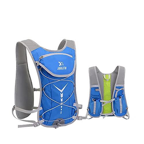 AOKUO Zaino per l'idratazione Zaino per Bicicletta da Ciclismo per Sport all'Aria Aperta, Zaino per Sport da Campeggio da Corsa da Arrampicata, con Sacca d'Acqua da 2 Litri (Color : Blue)