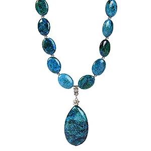 Chrysocolla Chain & Pendant Necklace