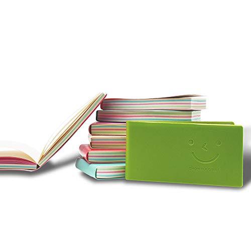 LZYMSZ - Cuaderno de bolsillo de 8 piezas, mini cuaderno de diario con cubierta de piel sintética, páginas en blanco, libro de notas de bolsillo portátil fácil de arrancar(color al azar)