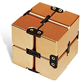 Fenteer Cube Infinity Cube Desk Toy Premium Quality Aluminum Infinite Magic Cube