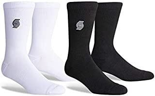 PKWY 2-Pack Unisex Basketball Team Enough is Enough Black & White Limited Edition Crew Socks
