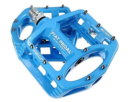 Evetin Ultra-Light Plattform Mountainbike/MTB/Flat Pedale, Magnesium Trekking Pedale Fahrrad mit Achsendurchmesser 9/16 Zoll für Universell BMX Mountain Bike Rennrad Trekkingrad 5051-1 (Blau)