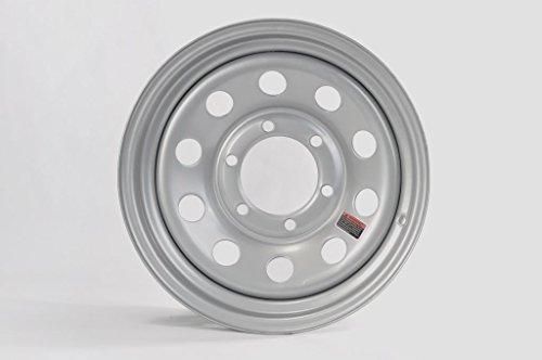 2-Pack eCustomrim Trailer Rim Wheel 15X6 6 Lug On 5.5 in. Center Silver Modular