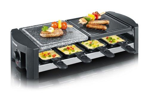 Severin RG 2683 Raclette-Grill mit Naturgrillstein (1300 Watt) schwarz