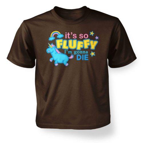 It\'s So Fluffy Kinder T-Shirt Gr. 3-4 Jahre, dark chocolate