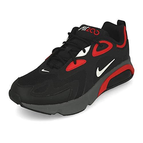 Nike Herren AIR MAX 200 Running Shoe, Black White University Red Dark Grey, 44 EU