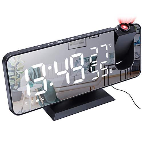 Ooscy Reloj despertador digital, LED digital, funciona con función de repetición, ajuste fácil de 1 minuto, número de pantalla grande, perfecto para dormitorio, adaptador incluido