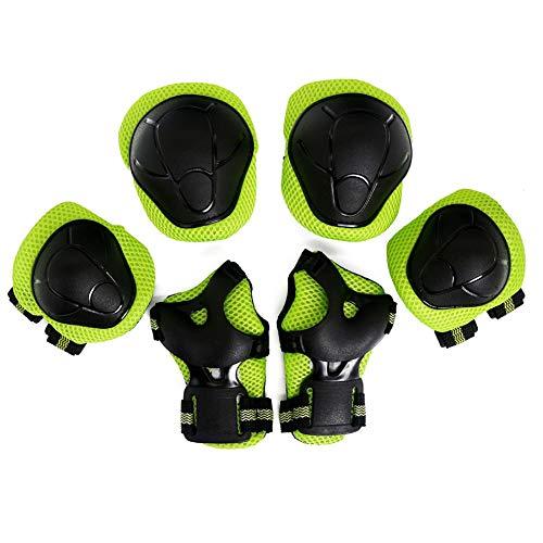 Kinder Knieschoner Set Kleinkind Schutzausrüstung Ellbogenschützer Skateboard Handgelenkschoner Kit Junior Knie Protektorenset für Fahrrad Roller Skate Reiten Radfahren Sicherheit Schutz BMX Bike