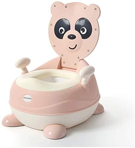 U/N Vasino, Bambini igienici Potty Seat Seat Allenamento con comode Maniglie e Il parafango for i Bambini 1-7 Anni, Rosa xjdmg (Color : Pink)