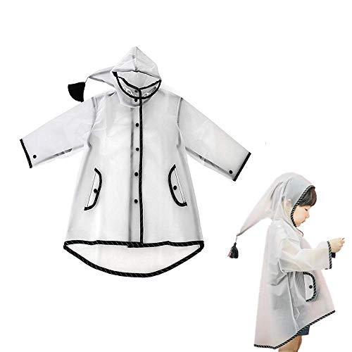 Kids regenjas schoon regenjas jas poncho, jongens meisjes capuchon regenjas, lichtgewicht regen dragen Emergency regen- en windjas mantel dragen voor jongens meisjes, M