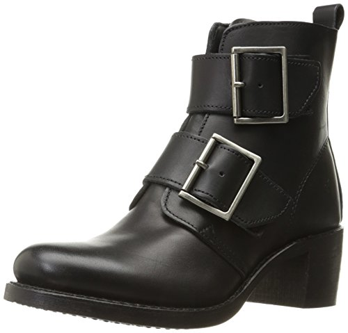 FRYE Women's Sabrina Double Buckle Boot, Black, 6 M US