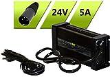 BatteryLabs - Chargeur intelligent pour Plomb AGM 24V – (5A, Connecteur XLR-M.3P) Allie Haut rendement et une Longue durée de Vie de votre Batterie de e.g. un Scooter électrique