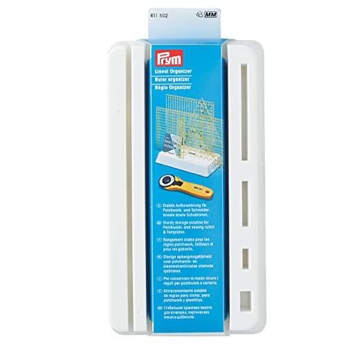 Prym, weiß 611502 Organizer, Lineal Rack, Kunststoff, 11 x 21 cm