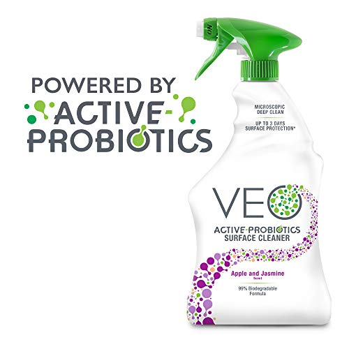 VEO Active-Probiotics All Purpose Cleaner Spray 22 Oz, Apple & Jasmine Scent, MultiSurface Cleaner, Multipurpose Cleaner