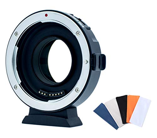 Viltrox EF-M2II キャノン EF-マイクロフォーサーズ スピードブースター 絞り調整 AF 手振れ補正対応 マウントアダプター レンズクロス付 弊社オリジナル 日本語ファームウェアアップ説明書付