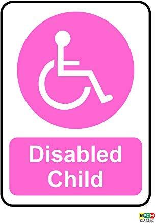 140X105Mm Wiel stoel gehandicapt Kind Roze Sticker Minibus Taxi Bus Decal Waarschuwing Stickers Labels, Zelfklevende Vinyl