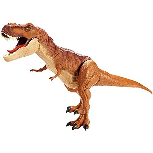 Mattel FMM63 - Jurassic World dinozaur ogromny tyranozaur Rex, ogromny dinozaur T-Rex, ok. 90 cm
