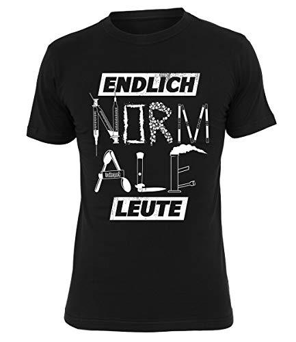 Trailerpark T-Shirt Endlich Normale Leute, Farbe:schwarz, Größe:XL