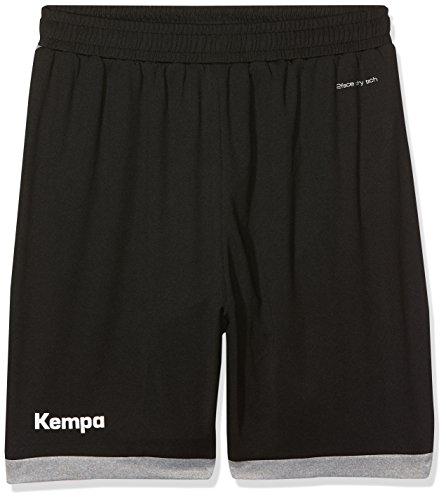 Kempa Kinder Core 2.0 Shorts, schwarz/dark grau melange, 164 (XS)