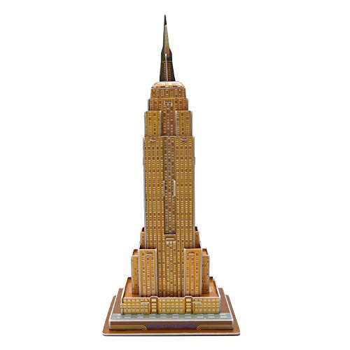 Runsong Creative 3D Puzzle Paper Model Empire State Building DIY Fun & Educational Toys World Great Architecture Series, 34 Pcs