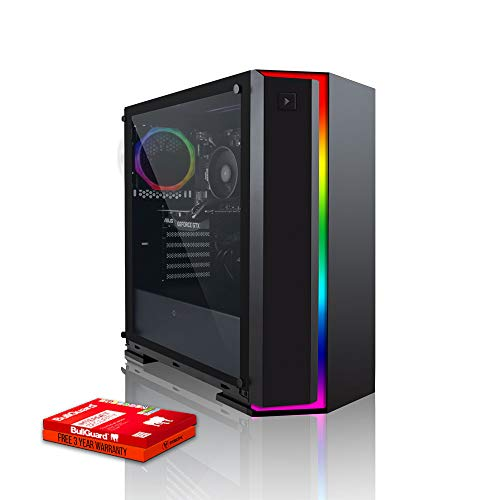 Fierce Alpha RGB Gaming PC - Veloce 4.0GHz Quad-Core AMD Ryzen 3 2300X, 1TB Disco Rigido, 8GB 3000MHz, NVIDIA GeForce GT 1030 2GB, Finestre non Incluso 931256