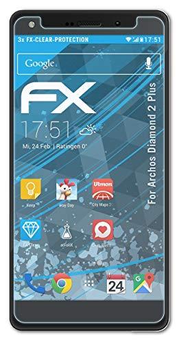 atFolix Schutzfolie kompatibel mit Archos Diamond 2 Plus Folie, ultraklare FX Bildschirmschutzfolie (3X)