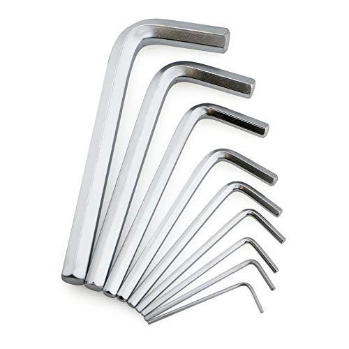 Preisvergleich Produktbild Winkelschlüsselsatz für Innensechskantschrauben (HX),  9-teilig; Inbusschlüssel mit kurz- oder extra langem Griff; Stiftschlüsselsatz aus Chrom-Vanadium-Stahl,  in praktischem Klapphalter..