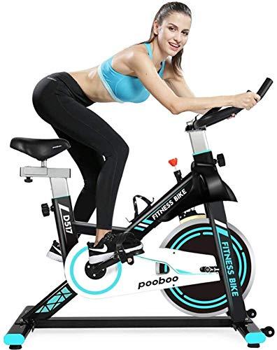 Cubierta de bicicleta de ejercicios, Bicicletas Home Fitness bicicleta estática, entrenamiento de interior Equipo de entrenamiento con el iPad, cojinete 220 libras con Big volante y resistencia ajusta