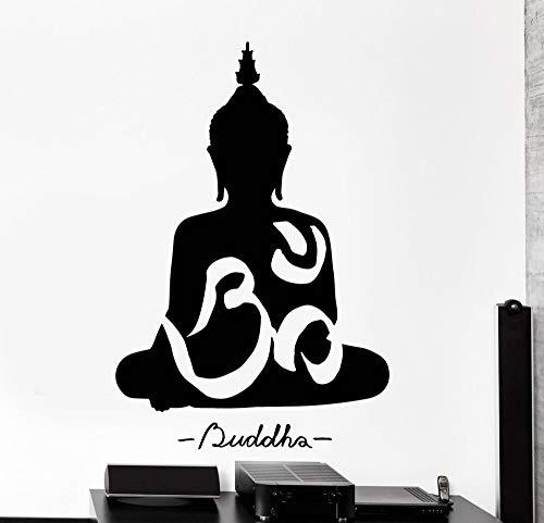 BailongXiao Rahmenlos-Yoga Meditation Buddha Aufkleber Kunst Wandaufkleber