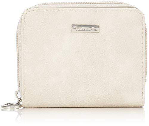 Tamaris Damen Milla Small Zip Around Wallet Geldbörse, Grau (Light Grey), 2,5x10x12,5 cm