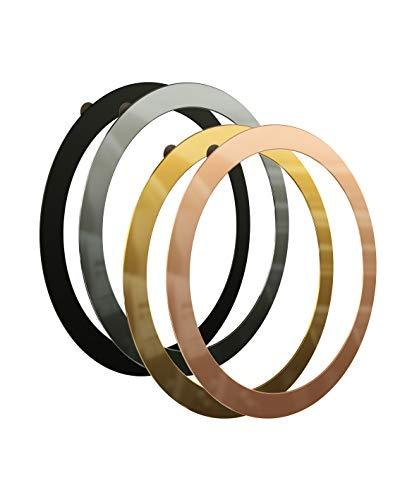 andi be free® Smartphone Magnetringe für das kabellose Qi Induktionsladegerät, 5.9 cm Durchmesser, 4 Farben