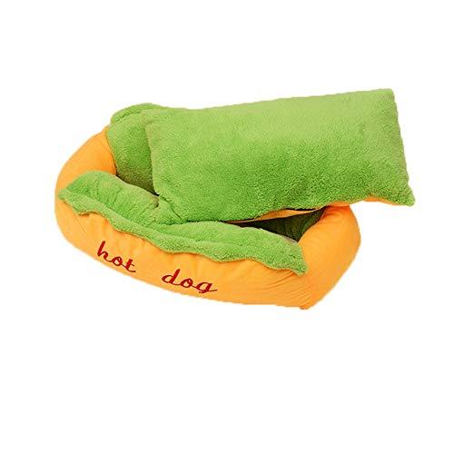 DOGKLDSF Hundebett Lustige Hot Dog Haustierbett Weiche Warme Haustier Hund Schlafmatten Coushion Schönes Geschenk Für Kleine Hunde Welpen Katze Hundebetten