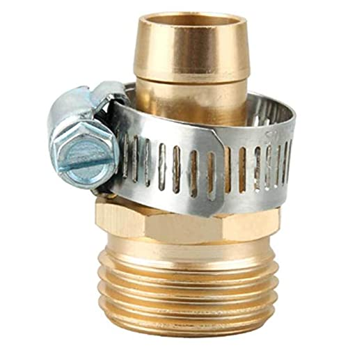 """Brass Connector Set AdapterGarden Hose Repair Mender Kit Hose Connector 3/4"""" Male Female Brass Connector Set Adapter - (Ships From: Australia, Color: Copper)"""