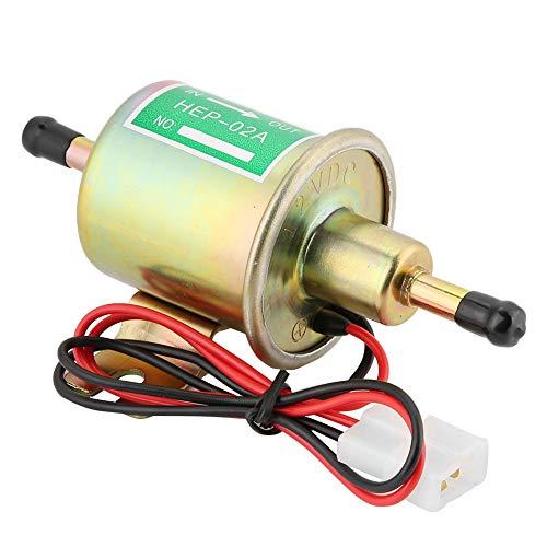 KIMISS 70L / hora bomba de combustible eléctrica de baja presión 12/24 V Kit de bomba de gasolina diesel en línea universal HEP-02A