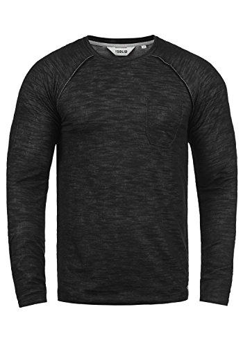 !Solid Don Herren Sweatshirt Pullover Pulli Mit Rundhalsausschnitt Aus 100% Baumwolle, Größe:XL, Farbe:Black (9000)