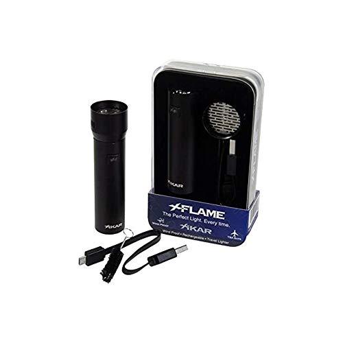 Xikar XFlame Lighter, Rechargeable, No Fuel Needed, 100% Windproof, Black