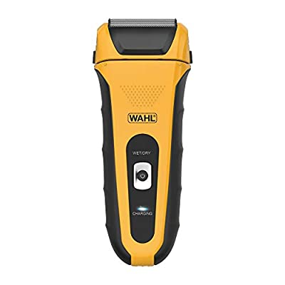 WAHL Electric Razor/Shaver Lifeproof Foil Shaver, Anti-Shock Case, Bright Yellow, Fully Washable Electric Shavers Men, Use in the Shower and Easy Cleaning, Ergonomic Rubber Grips