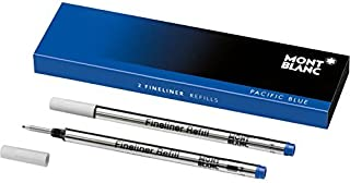 Montblanc Fineliner Refills (B) Pacific Blue 105171 – Pen Refills for Fineliner and Rollerball Pens by Montblanc – 2 x Fib...