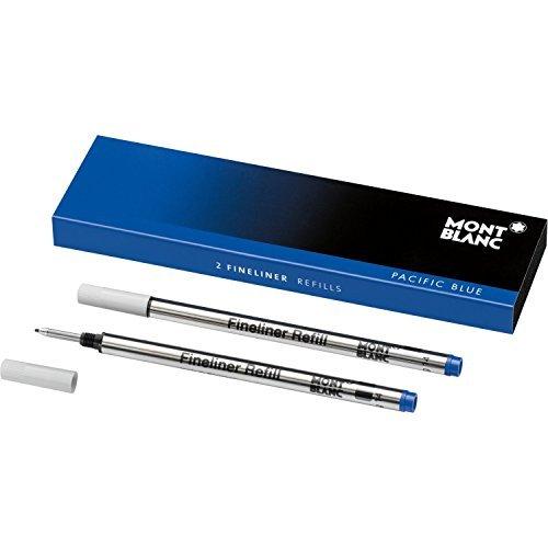 Montblanc 124500 Recambios para Fineliners y Rollerballs de tamaño B – Recargas de alta calidad en color Royal Blue, 1 paquete x 2 Recambios