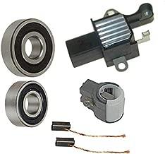 Alternator Rebuild Kit; OEM Valeo Voltage Regulator, Brushes & Bearings for 2003-2005 Mercedes C230 Kompressor with SG12B062