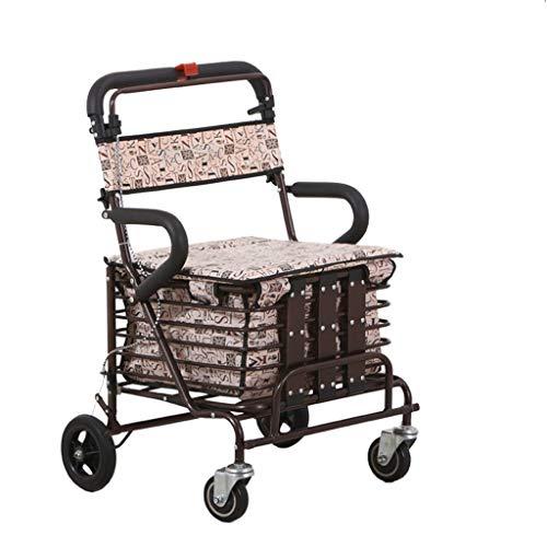 SSG Home Wagen Einkaufswagen Lebensmittel Supermarkt Thick Stahlrahmen-System Universal-Rad bewegliche Multifunktions-Haushalt Grocery Einkaufswagen Praktisch und einfach zu bedienen (Color : A)